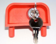 Gravity lock flat key